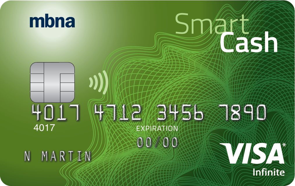 MBNA® SMART CASH VISA Infinite card