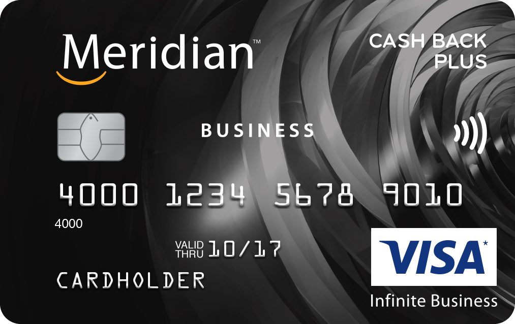 Meridian Visa Infinite Business™ Cash Back Plus Card