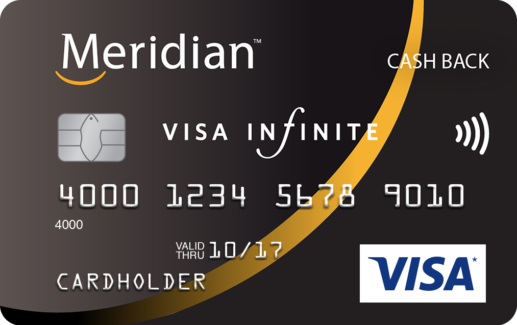 Meridian Visa Infinite Cash Back Card