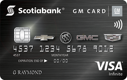 Scotiabank® GM®* VISA Infinite* card